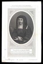 santino gravure 1800 S.LUISA DE MARILLAC letaille