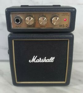 Marshall MS-2 Micro Portable Guitar Amplifier - Black Excellent Condition