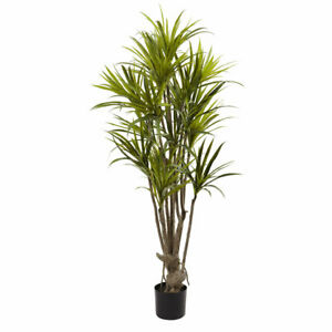 5' ARTIFICIAL REALISTIC SILK DRACAENA TREE ~ Fake Decor for Home or Office 5466