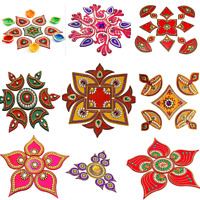 Multi Designer Handcrafted Decorative Diwali Special Stone Rangoli Home Decor