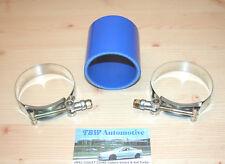 """Silikonschlauch 76 mm Blau + Schellen *NEU* Verbinder 3"""" Ladeluftrohre Turbo LLK"""