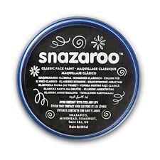 18ml Snazaroo negro cara cuerpo pintura maquillaje disfraz de Halloween 1118111