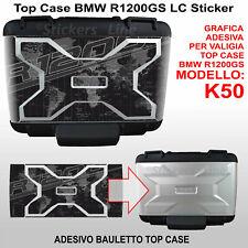 adesivo top case bauletto vario BMW R1200GS Planisfero Bussola K50 dal 2013 BLK