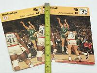 John Havlicek 1977 Sportscaster Card Boston Celtics Lot Of 2