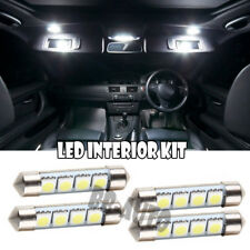 4x For Interior Dome MAP Vanity Sun Visor LED Xenon 39mm-41mm Festoon WHITE Bulb