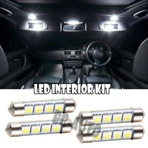 4x For Interior Dome MAP Vanity Sun Visor LED Xenon 39mm-41mm Festoon WHITE Bulb