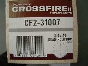 Vortex Crossfire II 3-9x40 Riflescope SFP Dead-Hold BDC MOA Reticle - CF2-31007