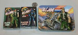 SEALED GI Joe Playing Cards 2 Decks playing cards Collectible Tin 2002 Cobra