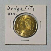 Vtg Souvenir of Boot Hill & Front Street Dodge City, Kansas Metal Token 8489