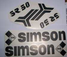 Aufklebersatz,SR 50 ,Roller,NEU,schwarz,Aufkleber,Simson,Ostalgie,DDR