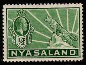 NYASALAND SG114 1934 ½d GREEN MTD MINT