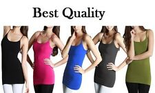 Pack of 5 - Women Stretchy Camisole Spaghetti Long Tank Top S,M,L