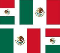4x sticker Adesivo Adesivi decal Vinyl auto moto bandiera Messico messicana