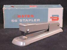 Vintage Silver Metal Bates 56 Stapler