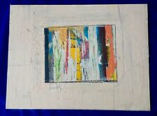 "Signed ORIGINAL ABSTRACT Painting & Collage by  Ronald AHLSTROM - 18"" x 24"""
