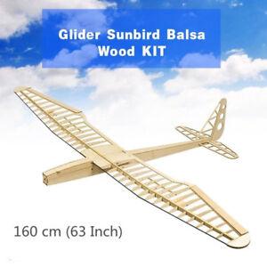 Sunbird Glider Balsa Wood KIT Wingspan 160 CM RC Building Plane Aircraft Model