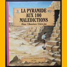 Livre-jeu  LA PYRAMIDE AUX 100 MALÉDICTIONS Jean-Luc Bizien Emmanuel Bazin 1998