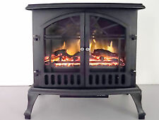 Electric Heater - 750 / 1500 Watts - Wood Burning Style - 2 Stage - 4,550 Btu