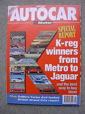Autocar (15 July 1992) Vauxhall Calibra Turbo 4x4, Nissan Sunny & Astra Estates