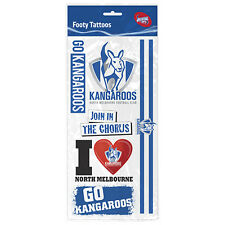 North Melbourne Kangaroos AFL Tattoo Sheet **AFL Official Merchandise**