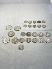 $6.25 90% Silver Coin Lot Dimes Quarters Half Dollars 26 Coin Lot