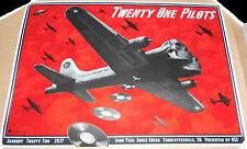 Twenty One Pilots Charlottesville VA 2017 Screen Print Poster Signed EMEK #d/100