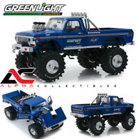 "GREENLIGHT 13537 1:18 1974 FORD F-250 BIGFOOT #1 48"" TIRES MONSTER TRUCK"