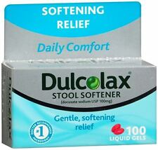 Dulcolax Stool Softener Liquid Gels 100 Liquid Gels (Pack of 2)