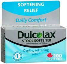 Dulcolax Stool Softener Liquid Gels 100 Liquid Gels (Pack of 2)