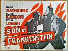 "Vintage Son of Frankenstein UK Quad poster 40"" x 30"" - Classic Horror Film Movie"