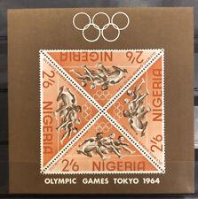 Agrome NIGERIA 1964 Yvert BF Sheet 4 Nhm ** Fullset OLYMPICS (A383