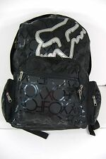 New Womens FOX RACING Riders Black Silver Laptop Backpack Bag $50 Retail