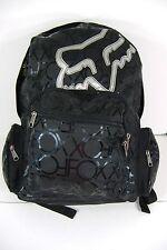 New Womens FOX RACING Riders Black Silver Laptop Backpack Bag