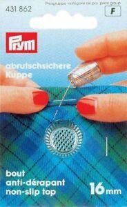Prym Die-Cast Zinc Silver Thimble with Anti-Slip Edge 16.0mm