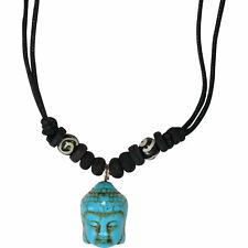 Buddha Pendant Black Cord Necklace Chain Mens Womens Boys Girls Ladies Jewellery