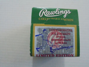 Rawlings 1998 Commemorative Joe Dimaggio Official American League Game Ball NEW