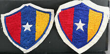 Obsolete Pair Of Burma Myanmar Rangoon Embroidered Police Patches