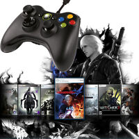 Wired Xbox 360 Controller USB Joystick Game Pad Black For Windows PC Fantastic