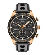 New Tissot PRS516 Black Dial Mens Sport Leather Strap Watch T1004173605100