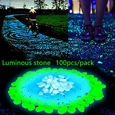 Romantic Garden Ornaments Luminous Pebble Stones Glow in the Dark Aquarium Decor
