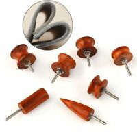 US Set of 7 Cocobolo Wood Leather Craft Edge Burnisher Slicker Flat/Pointed Tool