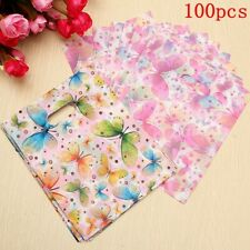 100pcs Fashion Korean Style Colorful Butterfly Plastic Carrier Bags Shopping