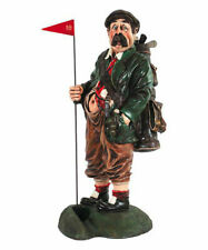 "40"" Golf Caddy Statue w Putting Hole Novelty Office Decor Collectible"