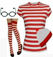 New Women's Wheres Wally Instant Kit Book Week Day Girls Fancy Dress Costume