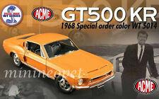 ACME A1801807 1968 SHELBY MUSTANG GT500KR GT 500KR WT 5014 1/18 DIECAST ORANGE