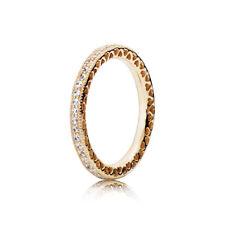 NEW! Authentic Pandora 14K Gold Hearts of PANDORA Ring #150181CZ-56 (7.5) w/Box