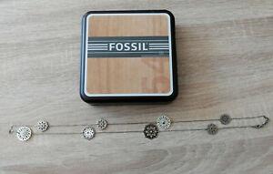 Fossil - Damen-Halskette mit eingearbeiteten Blumen - Halskette - silber