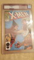 Uncanny X-Men #222 Wolverine Vs Sabretooth Cover CGC 9.4 1987 Marvel White Pages