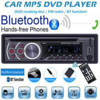 1 Din Car MP3 Stereo Player Radio DVD CD USB/FM/AUX In-Dash Bluetooth Head Unit