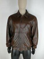 OAKLAND Cappotto di PELLE  Giubbotto Jacket Coat Giacca Tg L Uomo Man